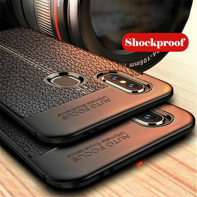 For Xiaomi Redmi Note 7 6 5 Pro 6A 4 Shockproof Soft TPU Leather Back Case Cover