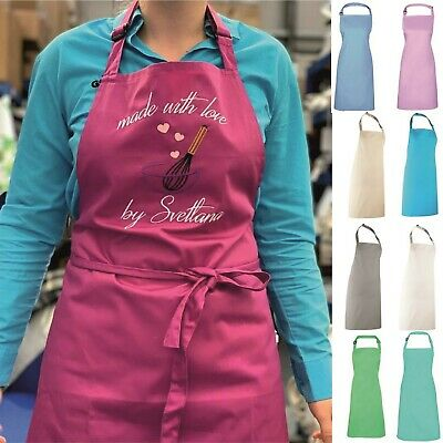 Personalised Custom Printed Apron Cooking Baking Crafts Chef Mums Birthday Gift