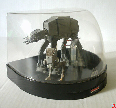 "Star Wars At-At 5"" Tall Plus 3"" At-St W/ Display Case Titanium Series Ultra Mint"