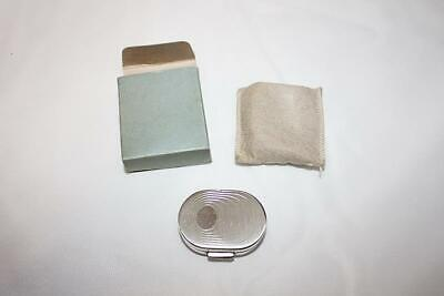 Vintage 1950s Pilcher Geometric Pattern Ladies Compact Silver Plated MCM w/Box