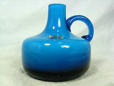 70´s German Pop Art Design Karl Friedrich Überfang Glas Vase / glass vase 8 cm