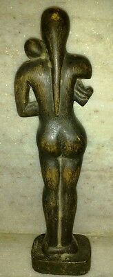 Antique India Teak Wood Hand Craft Rare South Tribal Putli Figure Sculpture