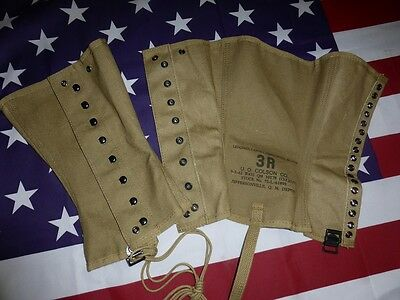 Paire de guêtres Mle 38 Leggins Canvas US WW2 ( Normandie USA militaria usa )
