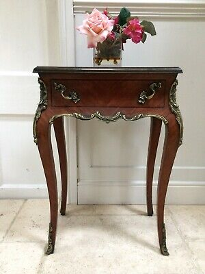 Vintage Repro French Ormolu Empire Style Side Occasional Table