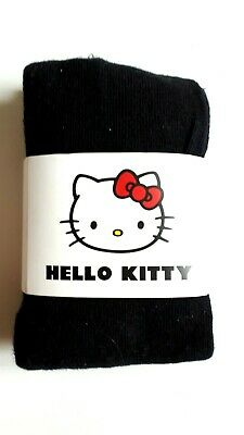 HELLO KITTY COMFORT TIGHTS SCHOOL TIGHTS COTTON BLEND BLACK SIZE 4-5 7-8 9-10Yrs