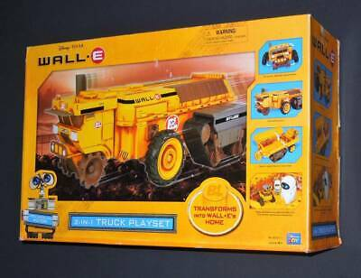 Unused Disney Pixar Trans Forms Into WALL E's Home 2 In 1 Truck Play Set Kit