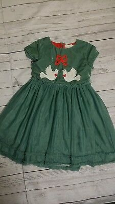 4ae8eab330b6 MINI BODEN GIRL'S Velvet Reindeer Appliqué Holiday (Christmas) Dress ...