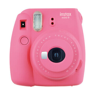 Fuji Instax Mini 9 Fujifilm Instant Film Camera Flamingo Pink- FOR PARTS/ REPAIR