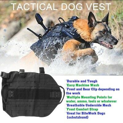 Military Dog Harness Police Army working hiking weight backpack Walking Vest