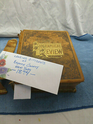 Leading Citizens of Broome County New York  Scarce Antique Book 1894 RARE