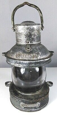 Rare antique ships Masthead light lantern George Wilson London lamp Nautical