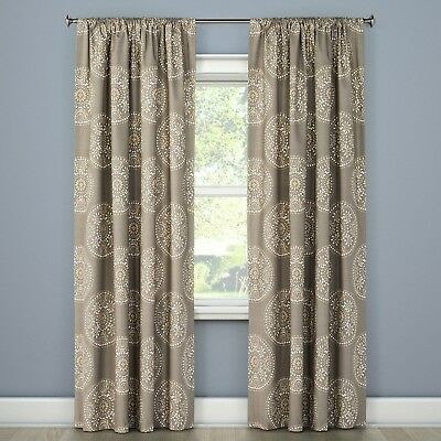 Tile Medallion Curtain Panel By Threshold Size 54 X 108