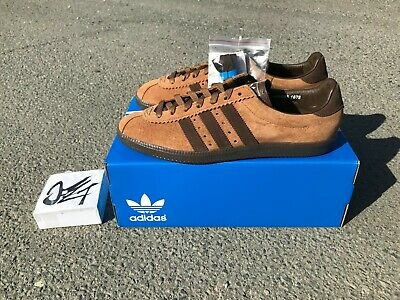 new style 124bc ad6dc adidas SPZL Spezial Padiham city series england london blackburn tobacco  leather