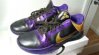 2e7f80a0fb04 Nike Zoom Kobe 5 V Lakers Away Del Sol 386429-071 - Size 12 Excellent