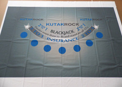 """Blackjack Table Layout - 6-Player - 76"""" x 47"""" - NEW Factory Second"""