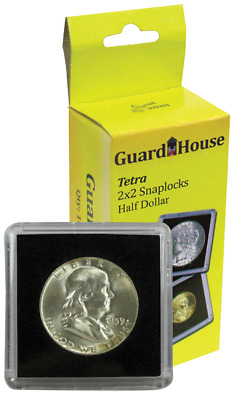 10 Guardhouse Tetra 2x2 Coin Holder Snap Capsule 30.6mm Half Dollar Storage Case