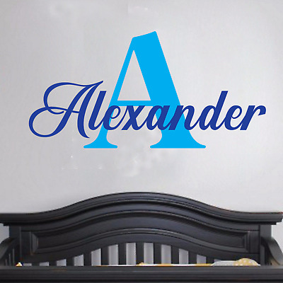 Boys Name Wall Decal Bedroom Decor Baby Nursery Removable Vinyl Sticker