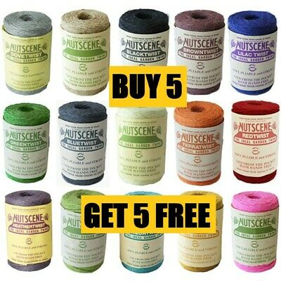 Thick Coloured String - 3 Ply Twine - Craft Gift Garden - SPECIAL BULK OFFER!!!