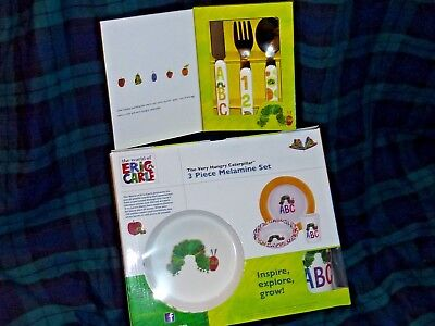 Eric Carle The Very Hungry Caterpillar 3 Piece Dinner, Cutlery Set Portmeirion