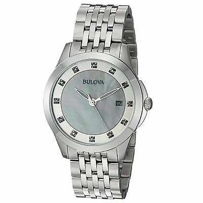 Bulova 96P174 Women's Ladies' Diamonds White Quartz Watch