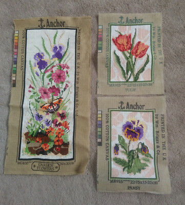 Completed Tapestries (for cushion craft or framing) - set of three