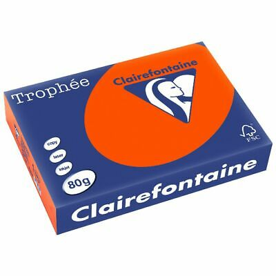 Trophee 80gsm Tinted A4 Copy Paper Ream Intensive Orange