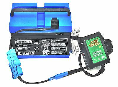 Peg Perego 12 Volt Blue Battery IAKB0501 AND Battery Tender Quick Charger Combo