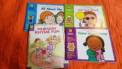 Brighter Vision Learning Adventure Books (Lot 4) All About Me, Nursery Rhyme Fun