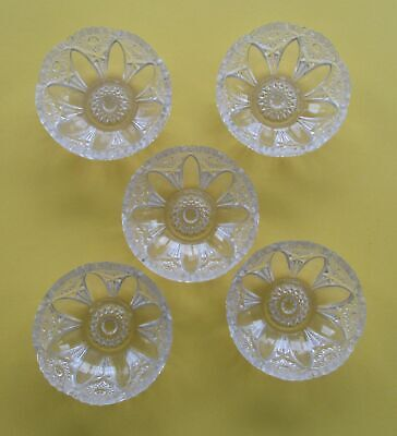 Vintage Lead Crystal Clear large Candy Fruit Nut Dish Etched Ornate