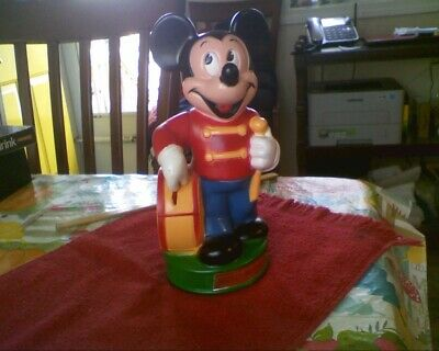 Walt Disney Productions Mickey Mouse Drummer BANK Animal Toys Plus Inc