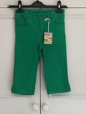 Joules, Bright Green Cropped Capri Jeans. Age 8 .Bnwt