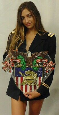 """Army West Point Emblem all Metal Sign 18 x 16"""""""