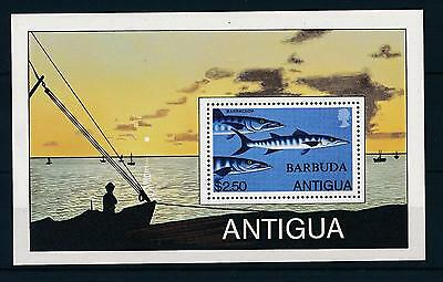 [32755] Barbuda 1979 Marine Life Barracuda MNH  Sheet