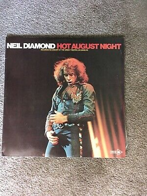 NEIL DIAMOND - Hot August Night 2 record collection, LP VINYL RECORDS