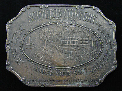 RE01166 VINTAGE 1970s **SOUTHERN COMFORT** BOOZE ADVERTISEMENT BELT BUCKLE
