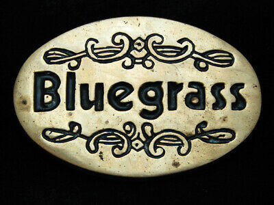 Pd01112 Vintage 1978 **Bluegrass** Music Commemorative Solid Brass Baron Buckle