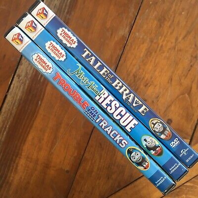 DVD 3-pack Thomas & Friends TALE/BRAVE, MISTY/RESCUE, TROUBLE/TRACKS Tank Engine