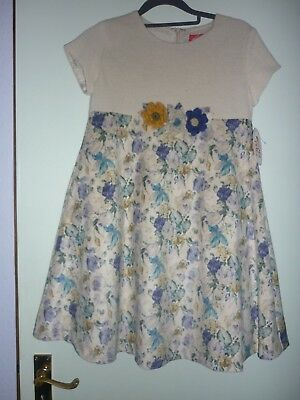 Designer Mariquita Pperez Girls Fully Lined Dress 12 New With Tags