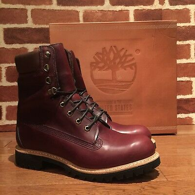 TIMBERLAND MADE IN USA 8 Inch Waterproof Boot. Burgundy