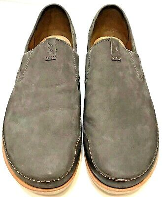 4989ee1af39c Chaco Men s Thompson Slip-On Dark Gull Gray Full Grain Leather Loafers Size  13
