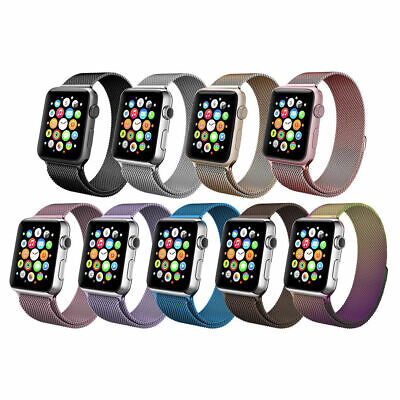 Stainless Steel Magnetic Milanese Loop Band Strap For Apple Watch Series 4 3 2 1