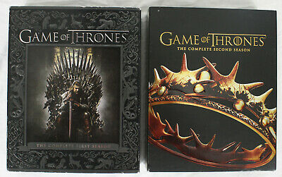 Game Of Thrones Seasons 1 & 2 Box Sets Blu Ray Discs GoT HBO