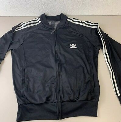 Adidas Youth Boys Black Track Jacket Size Medium Med M