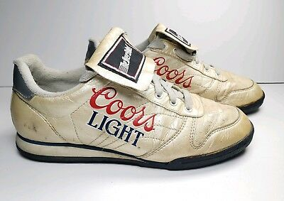 Vtg 1980s Coors Light The Silver Bullet Sneakers Cleats Shoes Promotional sz 9