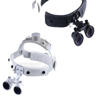 Dental Surgical Medical 3.5X Headband Binocular Loupes Magnifier Black / Whtie