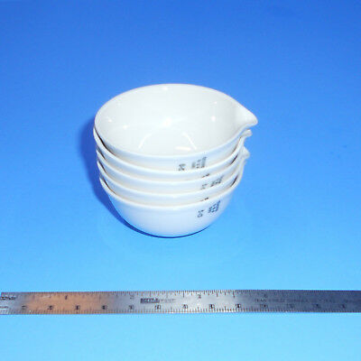 COORS USA 000 Porcelain Evaporating Dish ~1oz ~29.5ml set of 5