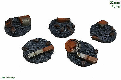 32mm Round Flyer Resin Base Urban Rubble Tau Drone WH40K