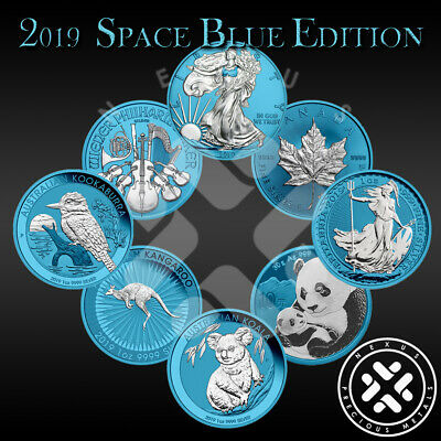 SALE Lot of 8 2019 Space Blue 1 oz Silver Coins Limited 500 w/COA FREE SHIPPING