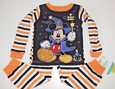 DISNEY MICKEY MOUSE BASEBALL PAJAMAS SIZE 9 12 18 24 MONTHS NEW!