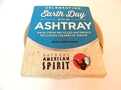 Natural American Spirit Earth Day Recycled Cigarette Waste Ashtray USA Potable